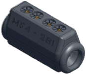 Sicame MF4-28/I Hybrid ('D' Section) LV Service Straight Pre-Insulated Connector