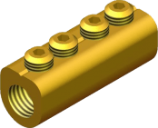 Sicame MF4 Brass ('D' Section) LV Service Straight Connectors