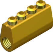 Sicame MF4 Brass (Heatshrink Section) LV Service Straight Connectors