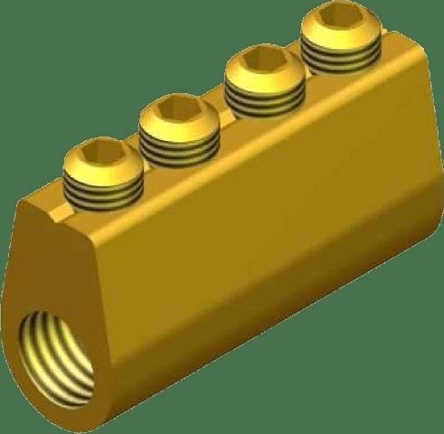 Sicame MF4 Brass (Heatshrink Section) LV Service Straight Connectors