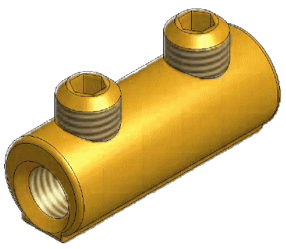 Sicame MFB1 Brass LV Service Straight Connectors