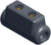 Sicame MFB1/I Brass LV Service Straight Pre-Insulated Connector