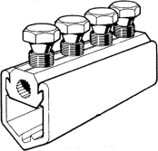 Sicame PCM1/1, 1/2 & 1/3 Insulation Piercing, Aluminium LV Mains Straight Connector
