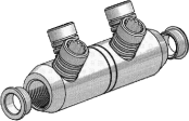 Sicame USMF1-C, 2-C, 3-C, 4-C, 5-C & 6-C Copper MV Mains Connectors (North America)