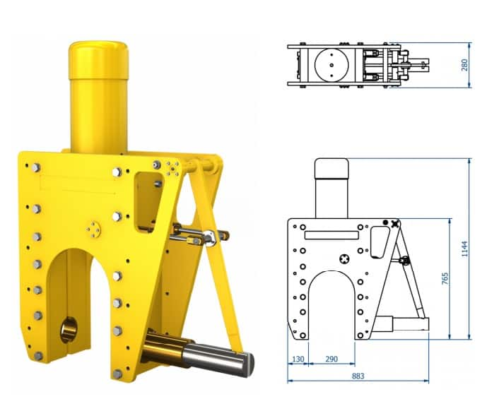 Subsea Cable Cutters - Dimensions