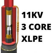11kV Cable Joints 3 Core XLPE Heat Shrink Straight Joint Kits