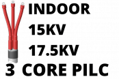 15kV 17.5kV 3 Core PILC Cable Termination Indoor Heat Shrink