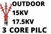 15kV 17.5kV 3 Core PILC Cable Termination Outdoor Heat Shrink