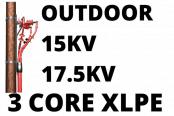15kV 17.5kV Cable Termination Kits HV 3 Core XLPE Outdoor (Heat Shrink)