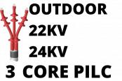 22kV 24kV 3 Core PILC Cable Termination Outdoor Heat Shrink