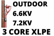 6.6kV 7.2kV Cable Termination Kits HV 3 Core XLPE Outdoor (Heat Shrink)