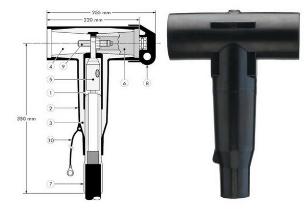 Euromold 400TB Tee Connector 11kV 24kV - Design