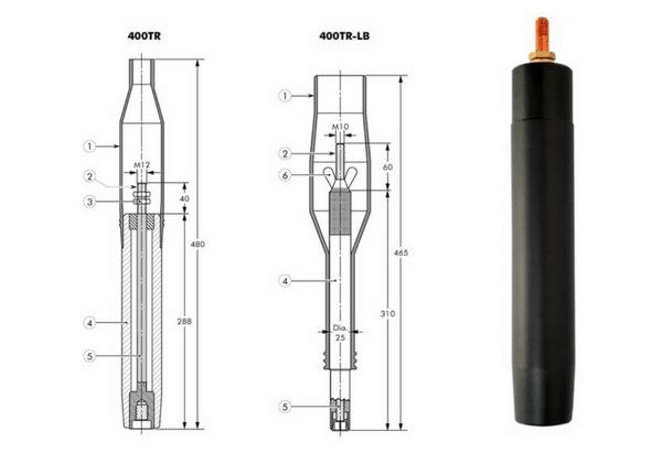 Euromold 400TR & 400TR-LB Test Rods 11kV 24kV - Design