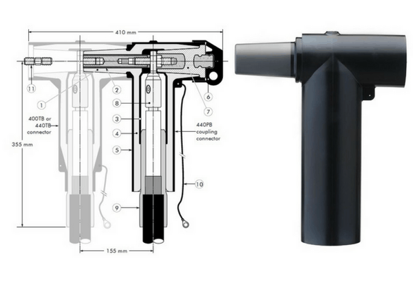 Euromold 440PB Coupling Connector 11kV 24kV - Design