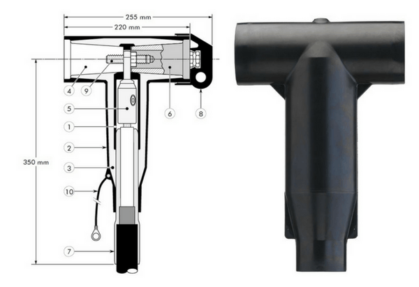 Euromold 440TB Tee Connector 11kV 24kV - Design