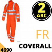 Arc Flash Coveralls Category 2 10 Cal Hi Vis Orange