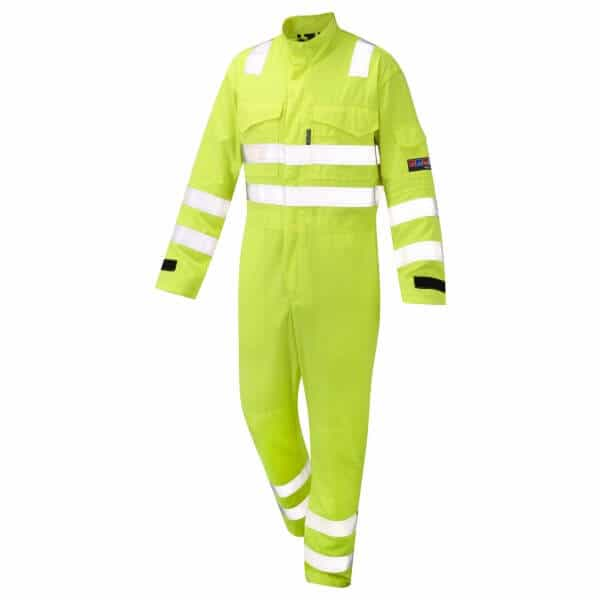 Arc Flash Coveralls Category 2 9.5 Cal Hi Vis Yellow