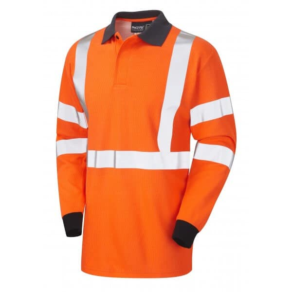 Arc Flash Polo Shirt Category 1 Hi Vis Orange