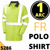 Arc Flash Polo Shirt Category 1 Hi Vis Yellow