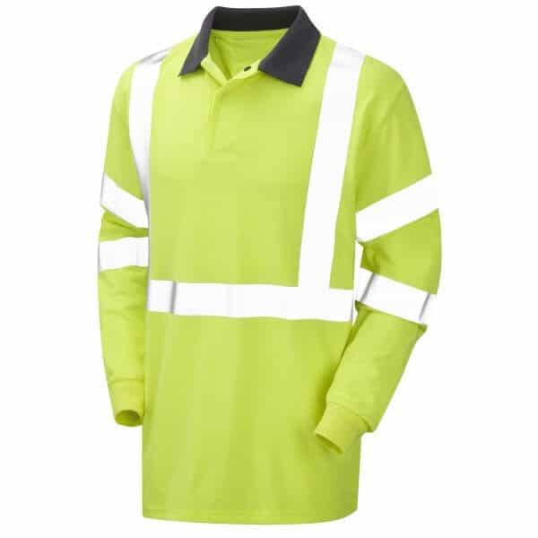 Arc Flash Polo Shirt Category 1 Hi Vis Yellow