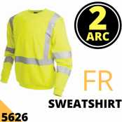 Arc Flash Sweatshirt Category 2 13.2 Cal Hi Vis Yellow