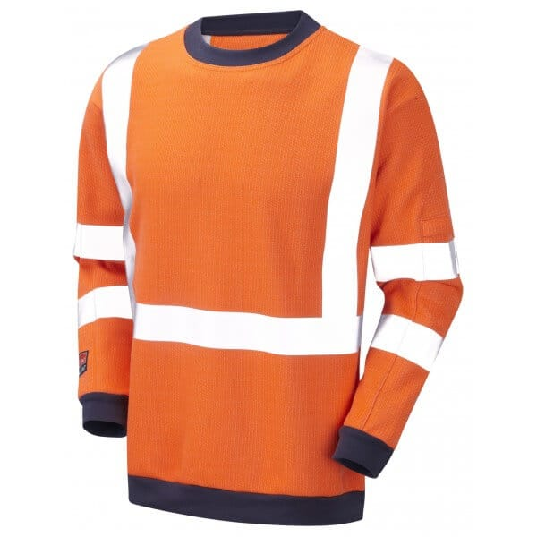 Arc Flash Sweatshirt Category 2 21.6 Cal Hi Vis Orange