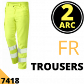 Arc Flash Trousers Category 2 9.5 Cal Hi Vis Yellow