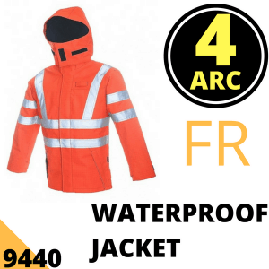 Arc Flash Waterproof Jacket Category 4 47 Cal Hi Vis Orange