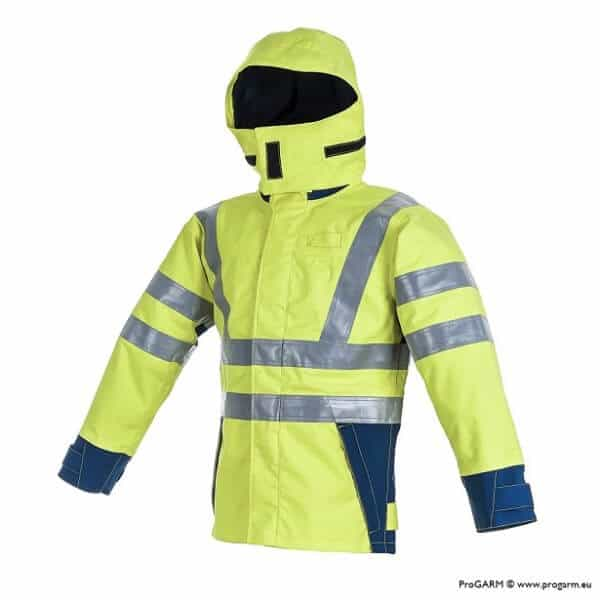 Arc Flash Waterproof Jacket Class 4 47 Cal Hi Vis Yellow