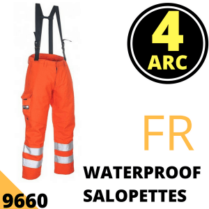Arc Flash Waterproof Salopettes Category 4 47 Cal Hi Vis Orang