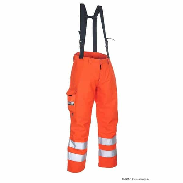 Arc Flash Waterproof Salopettes Category 4 47 Cal Hi Vis Orange