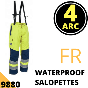 Arc Flash Waterproof Salopettes Category 4 47 Cal Hi Vis Yellow