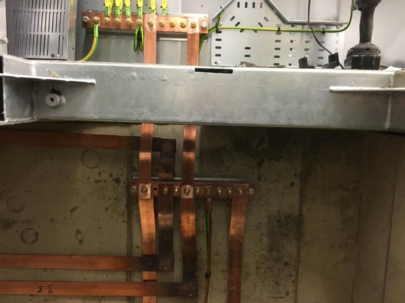 Copper Earthing Tape & Rods Protecting 33kV Substation