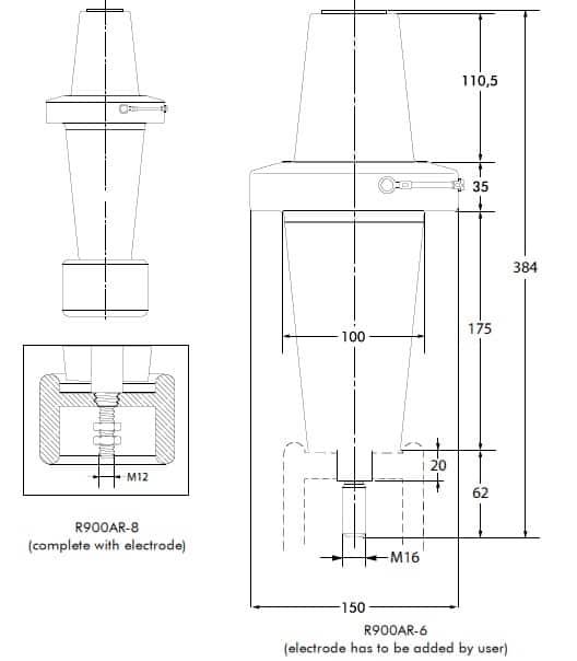 Euromold R900AR Equipment Bushing 66kV - Design