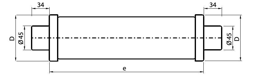 Motor Circuit Fuses - MV HV Fuses 3.6kV-12kV Motor Circuits IEC ABB CMF - Dimensions