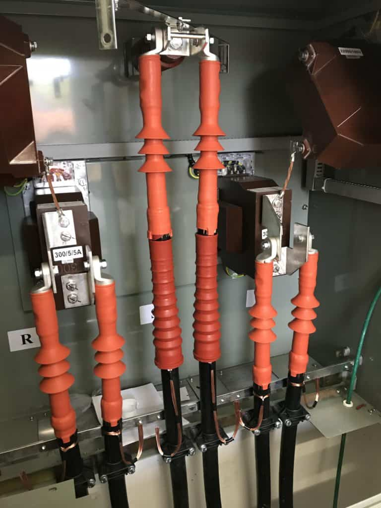 Heat Shrink Cable Termination Connecting 20kv Cable To