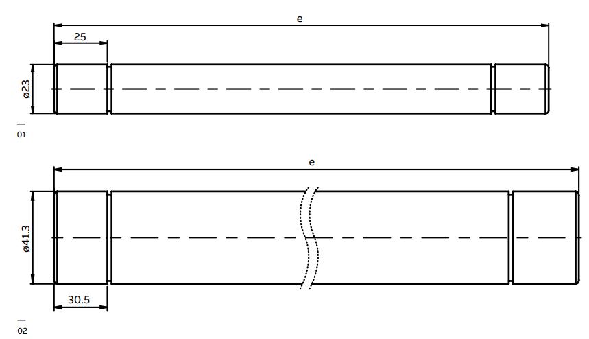 ABB WBP Fuses - Dimensions