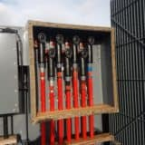 11kV 33kV Cable Termination Using Nexans Euromold Interface C Connectors Into Brush Transformer