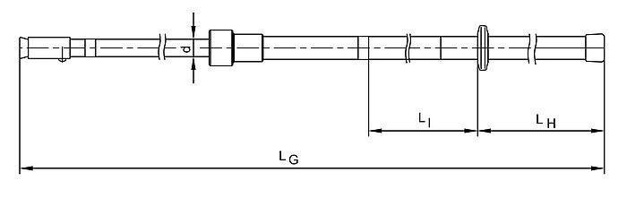 Insulating Poles Telescopic MV HV EHV Up to 110kV - Dimensions