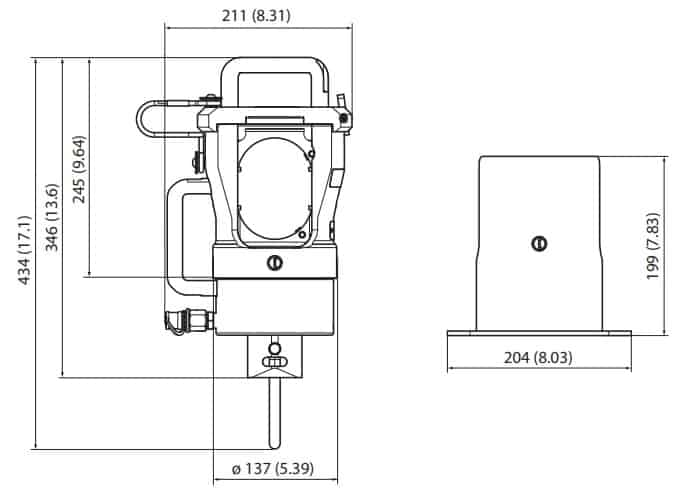 Cembre RHU600 Presshead - Dimensions