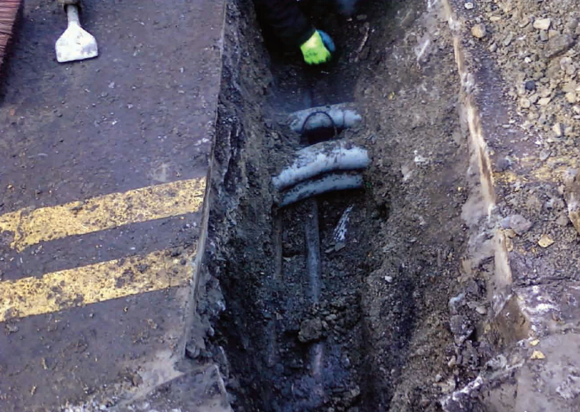 Low Voltage Mains Power Cable Damaged In Cable Trench