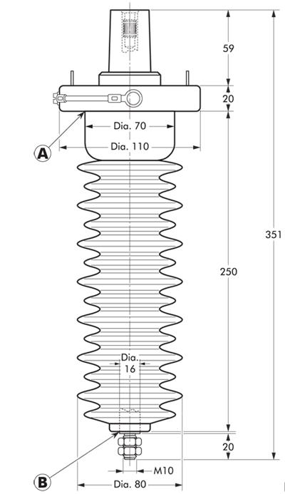 180A-24P-O Nexans Euromold - Interface A - In-air Bushing