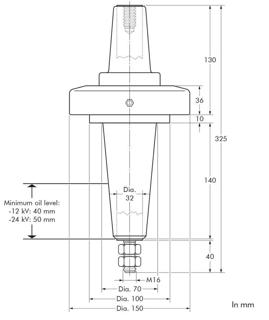 670AR-2 Nexans Euromold - Interface D - Equipment Bushing