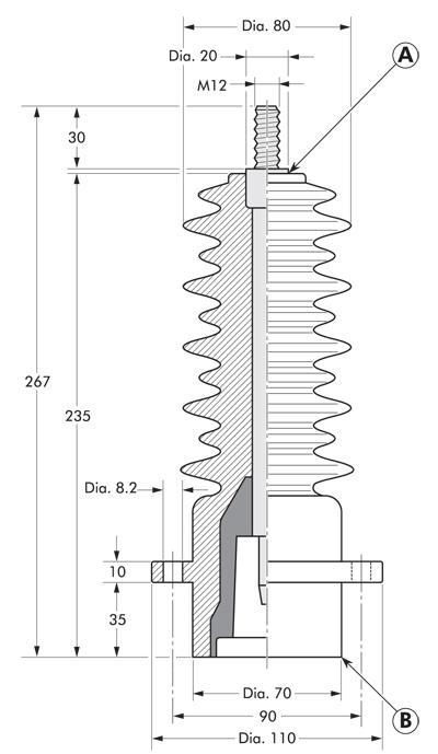 PITO-E Nexans Euromold - Interface A - Plug-in Termination