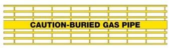 Detectamesh Caution - Buried Gas Pipe - Yellow