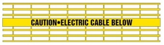 Caution-Electric Cable Below - Yellow