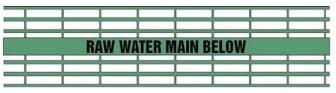 Raw Water Main Below - Green