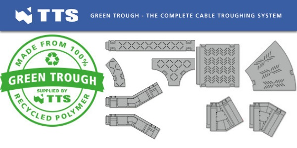TSS Green Rail Cable Trough & Troughing Systems