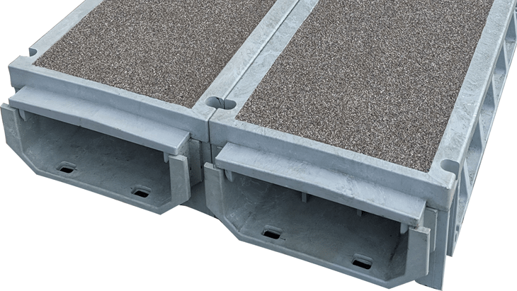 Polymer Cable Trough   TTS Walkway