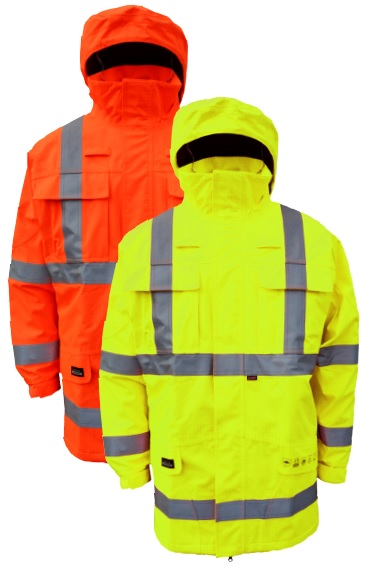 High-Visibility Flame Retardant Rain Jacket